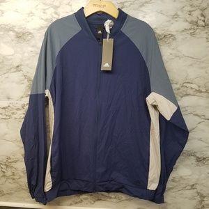 Adidas Mens Bomber Jacket Sz L & XL 65$ Tags Blue
